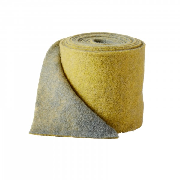 yellow-grey Wool fleeze bicolor