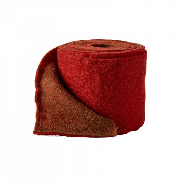 bordeaux-brown Wool fleeze bicolor