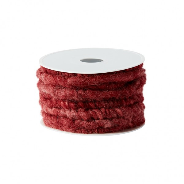 ruby red wool cord