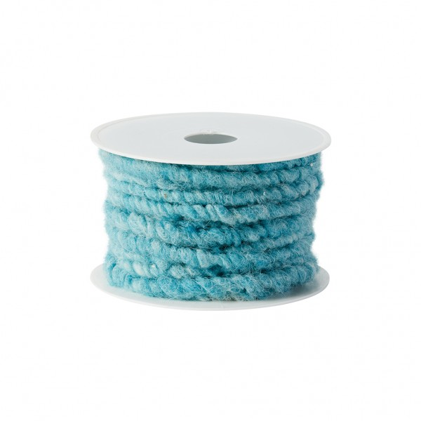 turquoise melange wool cord