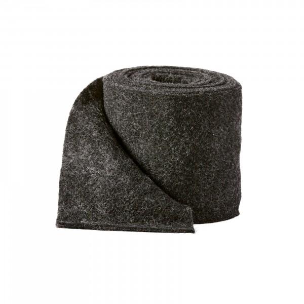 black melange Wool fleeze (heavy fleeze)