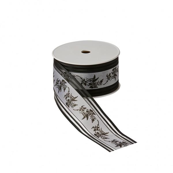 Florband schwarz - Rosenornament