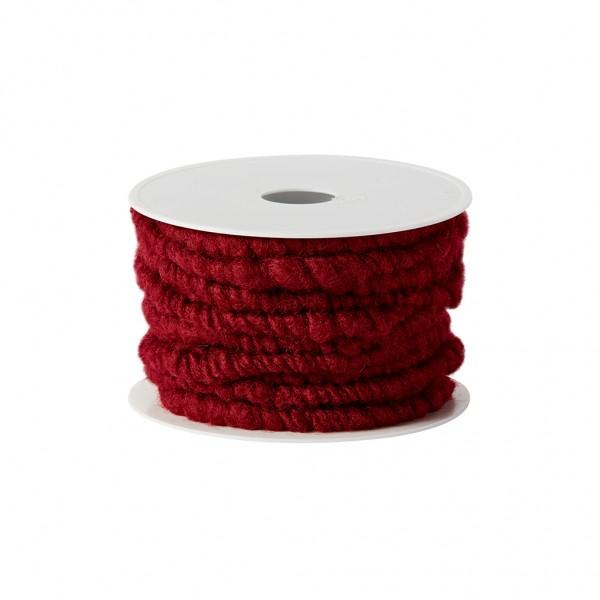 burgund Wollkordel