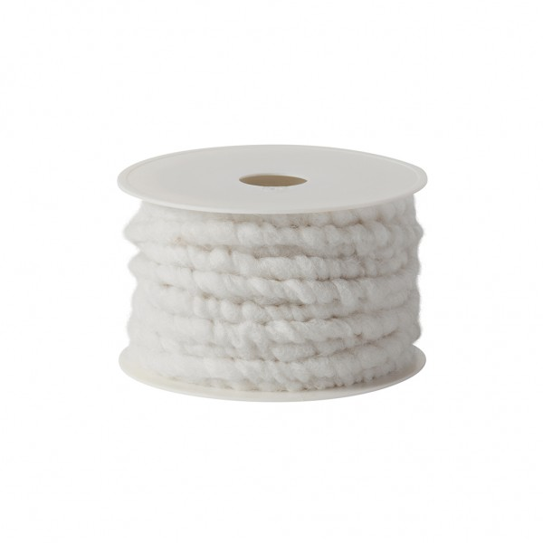 white wool cord