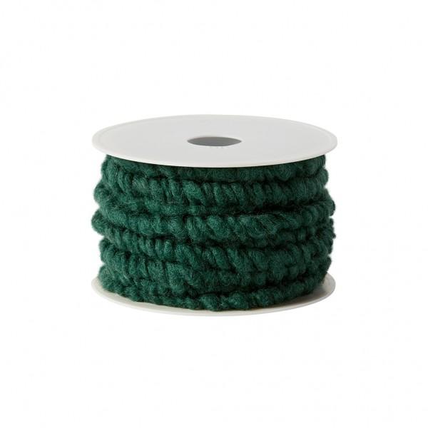 bottle green wool cord