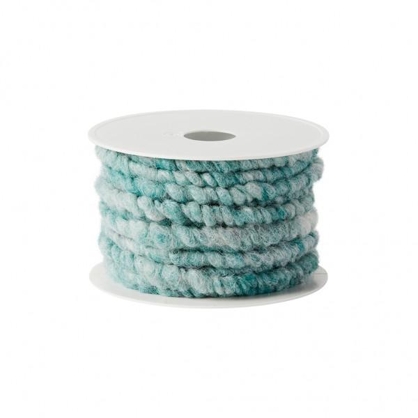 mistletoe green melange wool cord