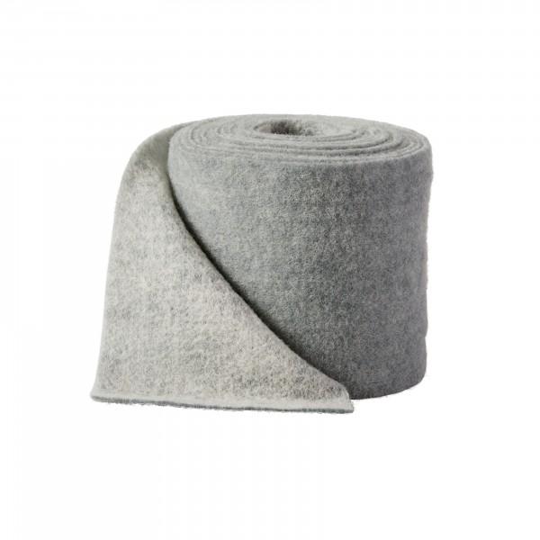 white-grey Wool fleeze bicolor
