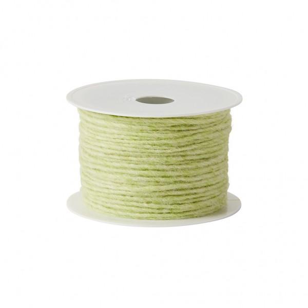 grün-melange Wolldocht