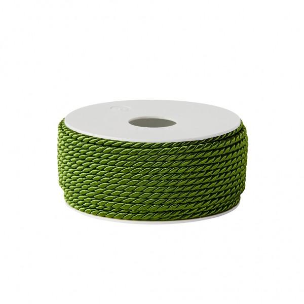 grass green glossy cord