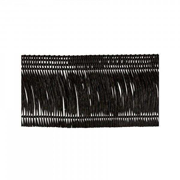 Fadenfranse schwarz selbstklebend