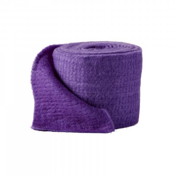 violet-purple Wool fleeze bicolor