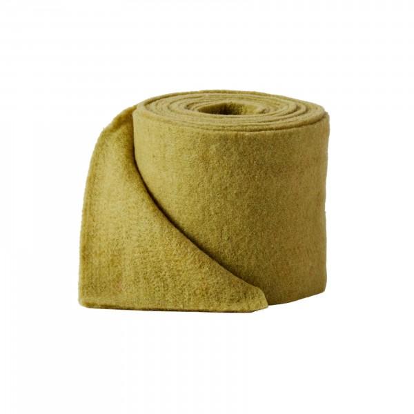 olive green melange Wool fleeze (heavy fleeze)