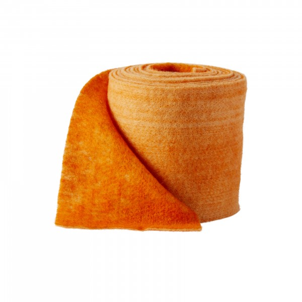 orange-kürbis Wollvlies Bicolor