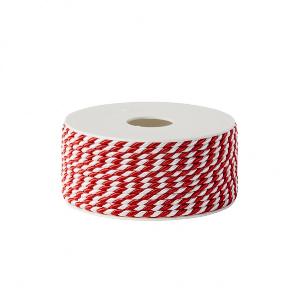 red-white glossy cord