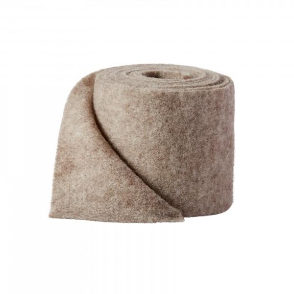 braun-melange Wollvlies (Heavy Vlies)