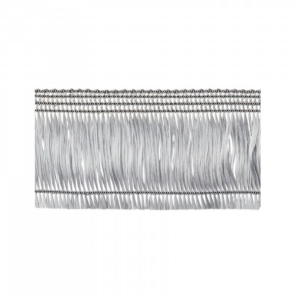 Hair fringe silver self-adhesive