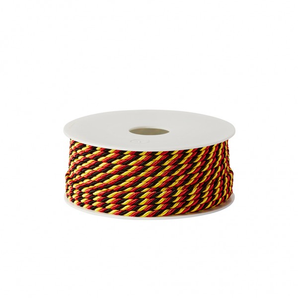 black-red-gold glossy cord