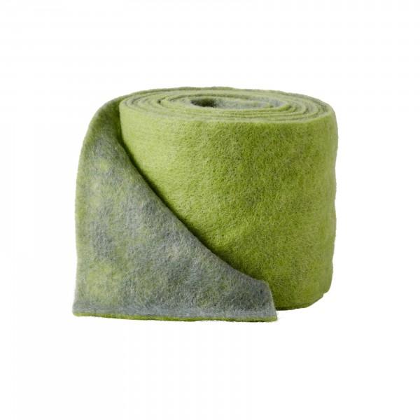 apple green-grey Wool fleeze bicolor