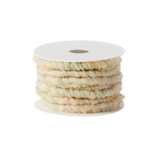 cream multicolor wool cord