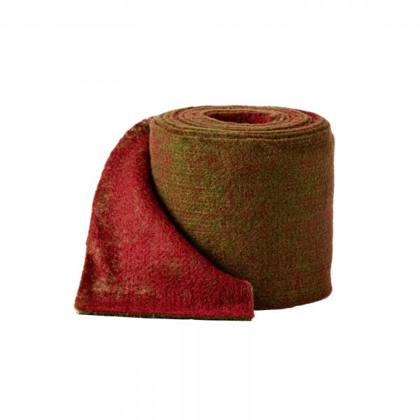 olive green-bordeaux Wool fleeze bicolor