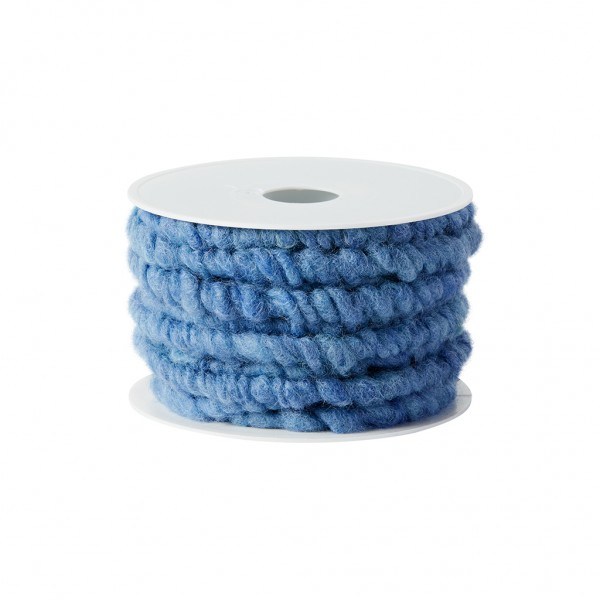 gentian blue plain wool cord