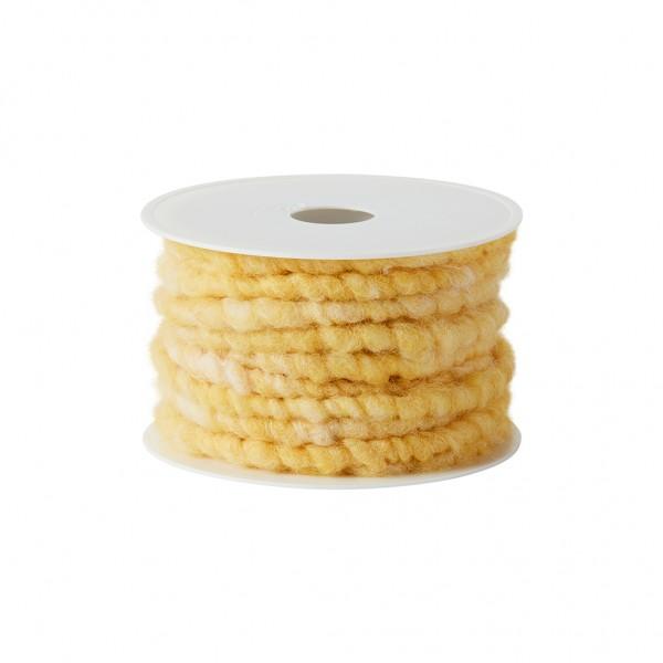 yellow melange wool cord