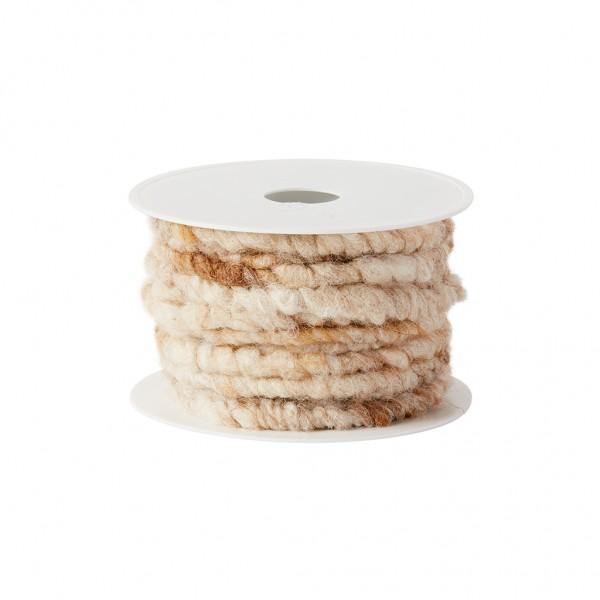 beige melange wool cord