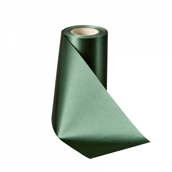 bottle green Satin without border
