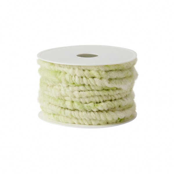 green melange wool cord