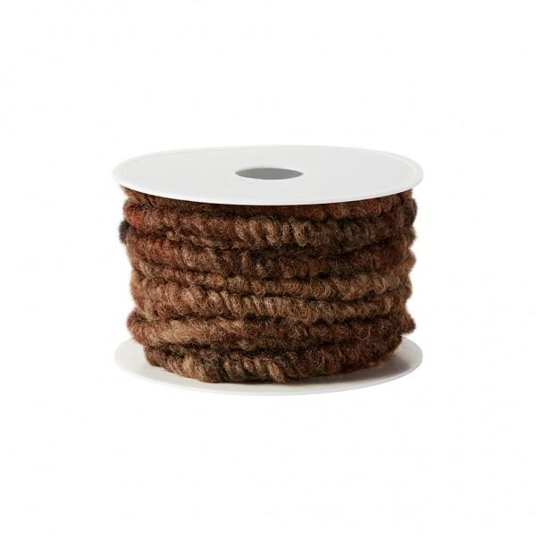 brown wool cord