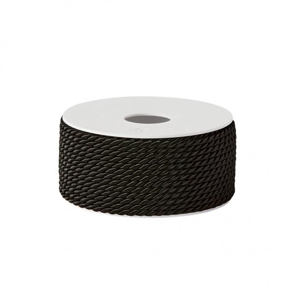 black glossy cord