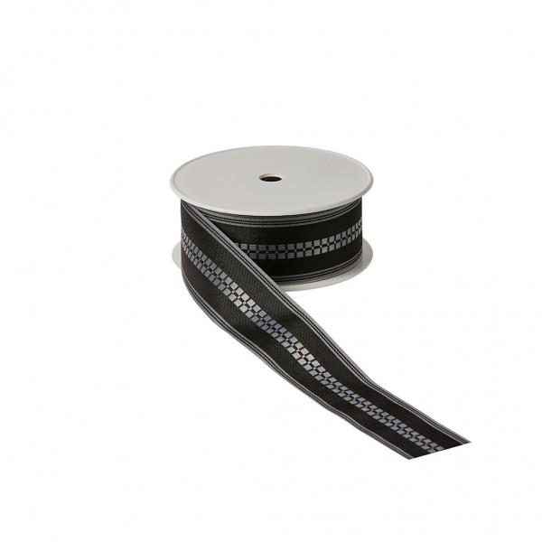 Florband schwarz - Quadratblume
