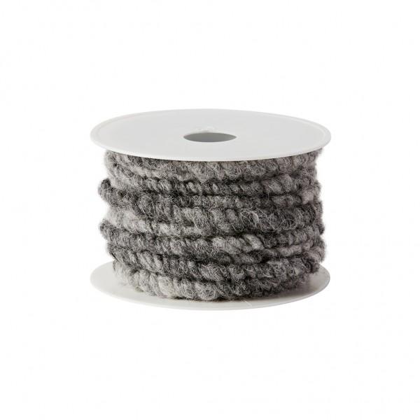 antrazit-melange Wollkordel