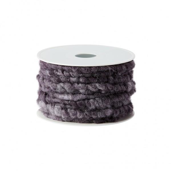 violett-melange Wollkordel