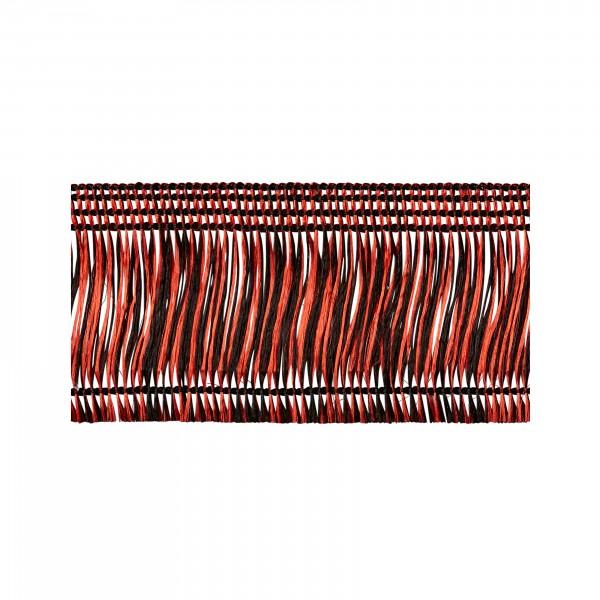 Thread fringe red-black self-adhesive